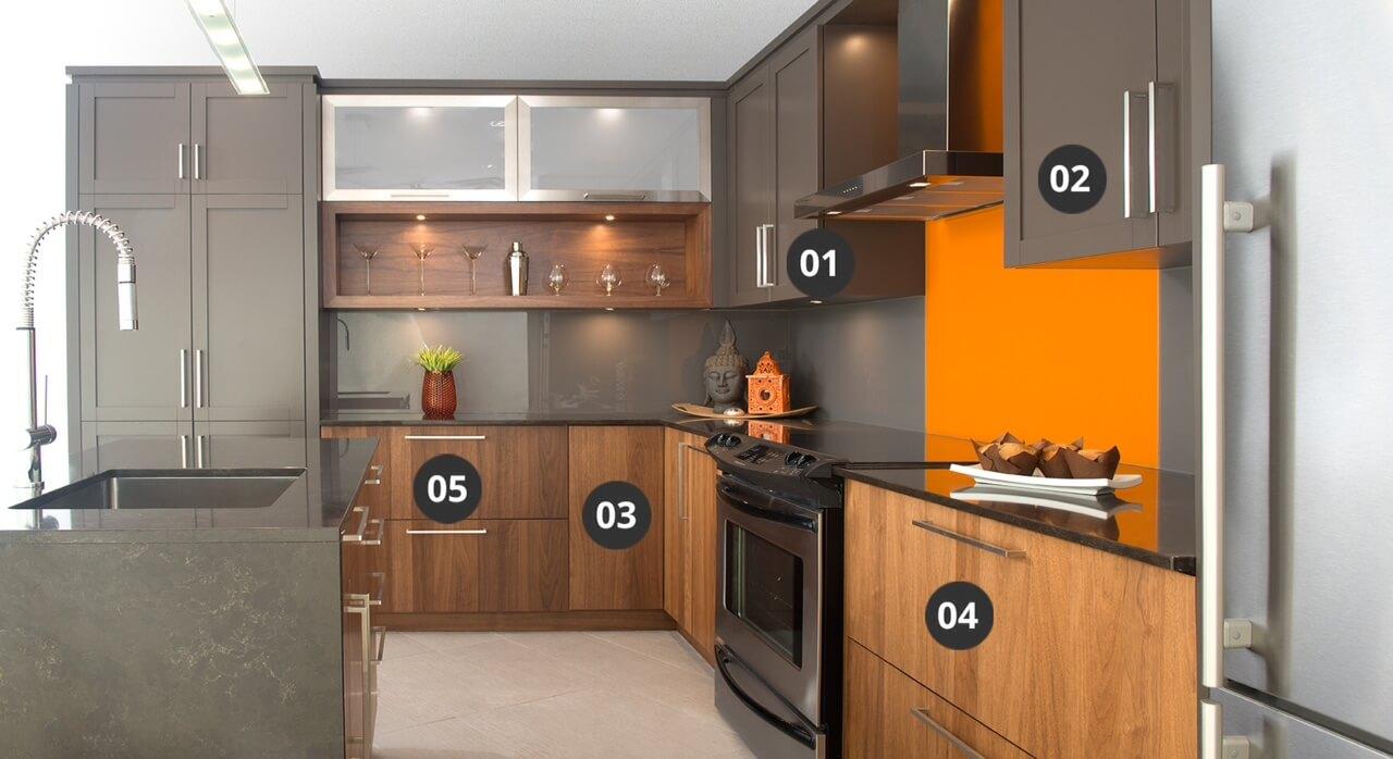 armoires cuisine aux standards lev s cuisines bernier. Black Bedroom Furniture Sets. Home Design Ideas
