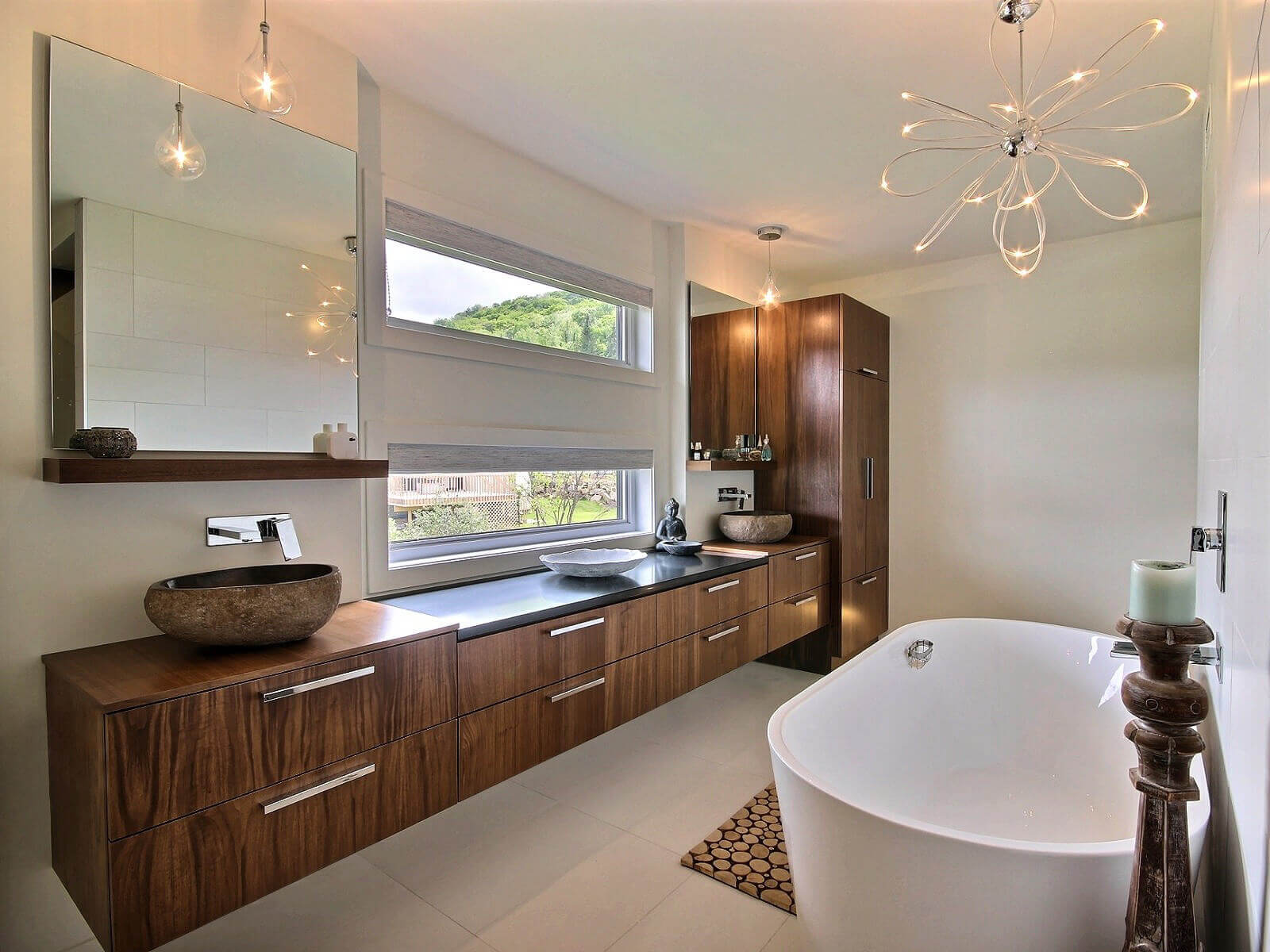 Contemporain cuisines bernier for Salle de bain moderne houzz